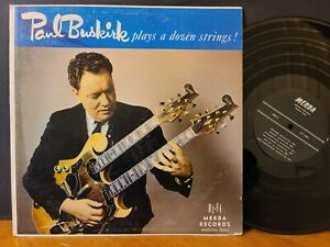 PAUL BUSKIRK PLAYS A DOZEN STRINGS Rare Merba Country Jazz Vinyl LP 1962 Guitar