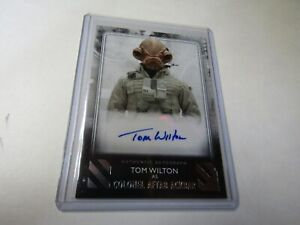 TOM WILTON, as COL. ACKBAR 2020 The RISE of SKYWALKER SERIES 2 AUTOGRAPH CARD