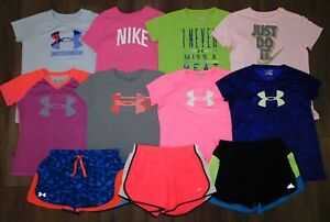Lot 11 Girls UNDER ARMOUR NIKE 8 Shirts 3 Shorts Size YXL Youth Extra Large 1NWT $129.99