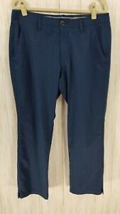 UNDER ARMOUR Match Play Navy Golf Pants. Size 36x30. Great Condition! $22.99