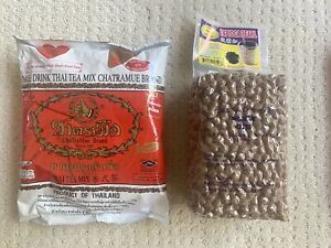 Thai Tea Number One Brand Cha Tra Mue 400 g & BOBA Dragonfly 2.2 lbs or 1 Kg