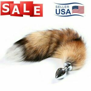 USA Small Fox Tail Anal Butt Plug Romance Game Funny Toy Cosplay Role Playing