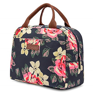 Women Lunch Bag Cooler Bag Insulated Lunch Box Water-resistant Thermal Soft L...