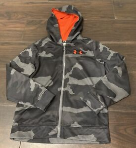 Under Armour Boys Zip Hoodie Size YMD 10 12 $9.99