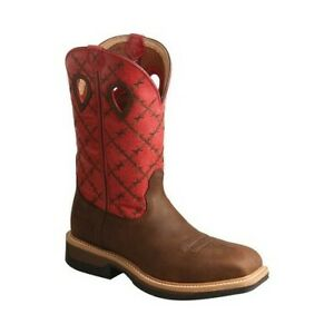 Twisted X Men's   MLCA005 Lite Cowboy Alloy Toe Work Boot BrownFlash Red