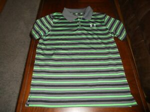 Under Armour boys shirt size Y XL youth extra large athletic MINT golf loose fit $12.00