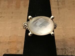 Michael Dawkins Sterling amp; White Mother of Pearl Ring Sz 5