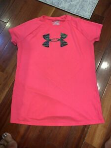 Under Armour Tee Shirt Sz Youth Extra Large Girls Pink $5.00