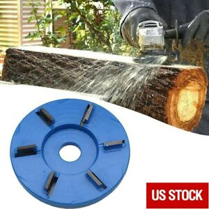 6-tooth Flat Wood Carving Disc Tool Milling Cutter For 16mm Angle Grinder US