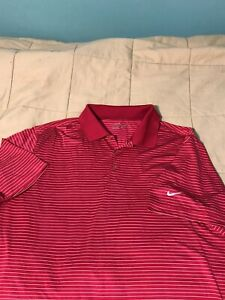 Nike Tour Performance Dri Fit Men's Golf Polo Shirt Size XL Pink Red $10.50