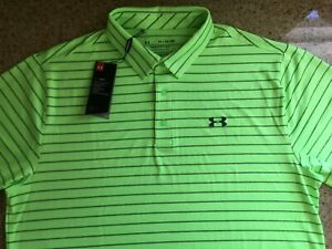 New Under Armour XL Green Collared Golf Polo Shirt Style #1327037 $20.00