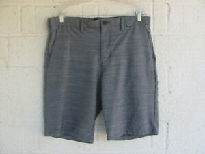 MENS HURLEY SHORTS SZ 34 NIKE DRI FIT COLOR GRAY PRE OWNED $21.50