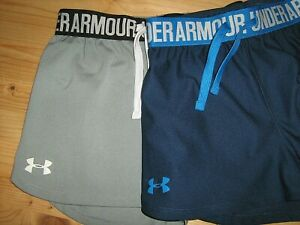 Lot Of 2 Girls sz YMD UNDER ARMOUR HEAT GEAR Loose Fit NO LINED Shorts $9.99