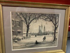 "Gordon Grant ""Arching Elms In Winter"" AAA Framed Lithograph Pencil Signed $89.00"