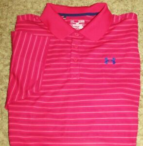 Mens UNDER ARMOUR Heatgear Polo, Loose Fit, XL, MINT condition $22.99