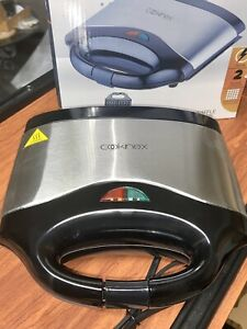 waffle maker 2 Slice Cookinex Cool Touch Handles Indicator Light Easy To Clean