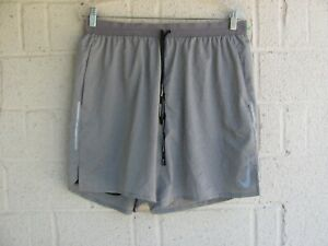 MEN'S NIKE ATHLETIC SHORTS SZ XL RUNNING COLOR GRAY. LINED PRE OWNED $9.99