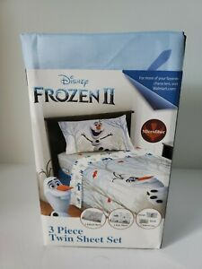 Disney Frozen II 3 pc Twin Sheet Set