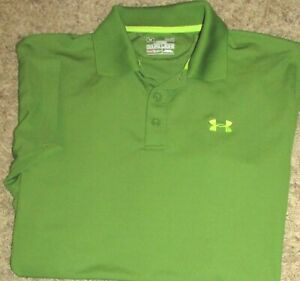 Mens UNDER ARMOUR Heatgear SS polo shirt, Loose Fit, MED, Excellent condition $19.99