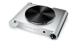 Hot Plate for Cooking Portable Electric Single Burner 1500W 5 Levels Cast-Iron
