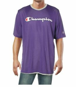 Champion Men's Double Dry Reversible Mesh Shirt Purple XL NEW with tag Defect $18.99
