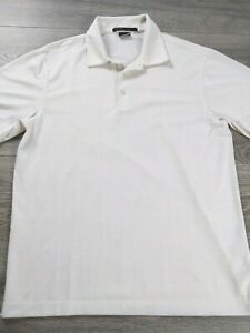 Tiger Woods Collection Men's Golf Short Sleeve Shirt Size S Nike Dri Fit White $29.99