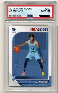Ja Morant Rookie Card PSA 10 Gem Mint Rookie Card NBA Hoops RC #259