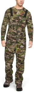 Under Armour Grit Bib Forest Camo Hunting Pants 1316872 940 Men's 2XL NWT $190 $69.99