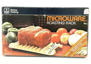 Anchor Hocking Microware Bacon & Meat Roasting Rack Microwave Cooker