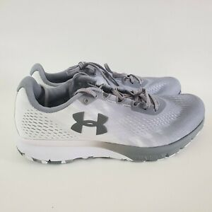 Under Armour UA Charged Patriot Womens Size 11 Shoes 3021019 104 Gray White $39.00