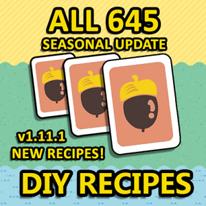New Horizons: All 645 DIY Recipes Updated to v1.11.1 $7.95