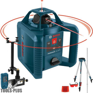 Bosch GRL800 20HVK 800 ft. Self Leveling Rotary Laser Level Kit Recon