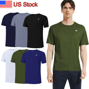 3 Pack Mens Quick Dry Sport T shirts Lightweight Activewear Running Gym Fitness $19.94