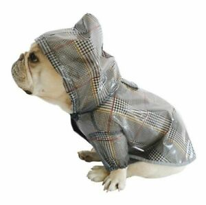 Plaid Raincoat Dogs Apparel For Travel Outdoor Rain Cover Cute Clothing Pet Suit