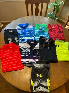 LOT OF 9 Nike Under Armour Nike Puma Youth Boys Size XL T Shirts Golf Combine $60.00