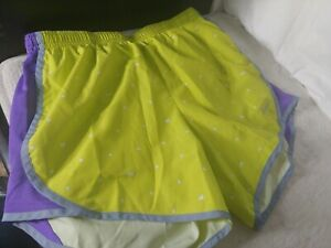 Nike Girls Sz Large Lime Green and PurpleTempo Running Shorts $10.00