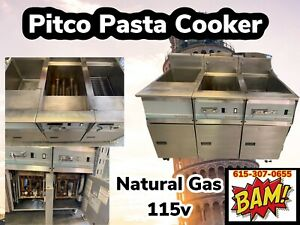 Pitco Frialator Pasta Cooker - Natural Gas 115 Volts 1 Phase -Works
