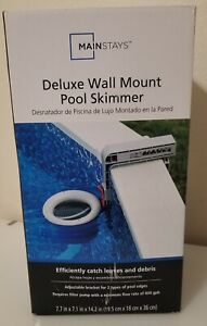 Mainstays Deluxe Wall Mount Pool Surface Skimmer for Collecting Debris