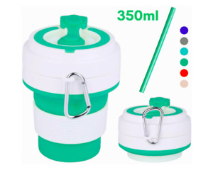 350ML Portable Silicone Telescopic Collapsible Folding Coffee Cup Outdoor Travel