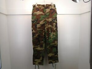 USGI US MILITARY CAMOUFLAGE BDU PANTS SMALL LONG HOT WEATHER 1995 PROPPER 34 B
