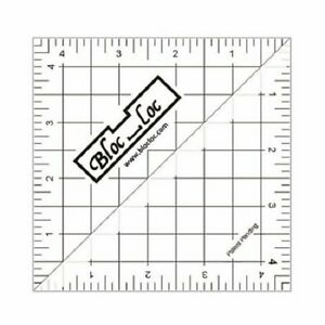 Bloc Loc Perfect Half Square Triangle Quilting Ruler 4 1 2 Inch HST 45 $24.00