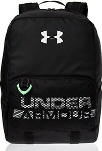 Under Armour Youth Armour Select Backpack Black White Camp Travel School Bag