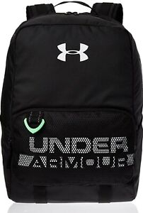 Under Armour Youth Armour Select Backpack Black White Camp Travel School Bag $39.97