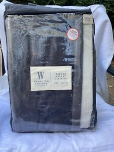 New Charcoal Wamsutta Vintage Coverlet Queen Size
