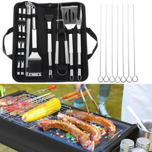 Skewers Grill Utensil Accessories BBQ Tool Set Cooking Kit Stainless Steel