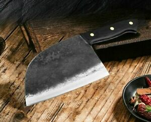Hunters Serbian Chef Knife Steel Kitchen Knives Cleaver Forged By Master Artis