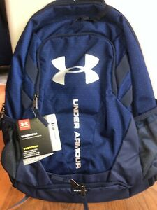 Under Armour HUSTLE 3.0 STORM BACKPACK 1294720 NWT NAVY BLUE PRINT 18 X13 X 9 $42.99