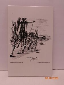 Salvador Dali Don Quijote on Tile $99.95