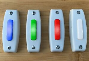 Lighted Doorbell Button Replacement Wired LED Broan Nutone Choice of Color