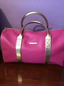 Juicy Couture Hot Pink Purse bag Eith Gold Handles